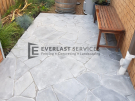 L279 – Everlast Landscaping stenciled concrete with seat