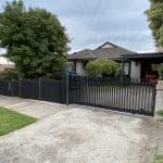 A254 - Everlast Services - Aluminum Slats Fencing Front of House