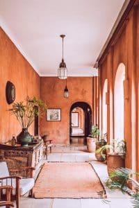 Morocco inspired courtyard