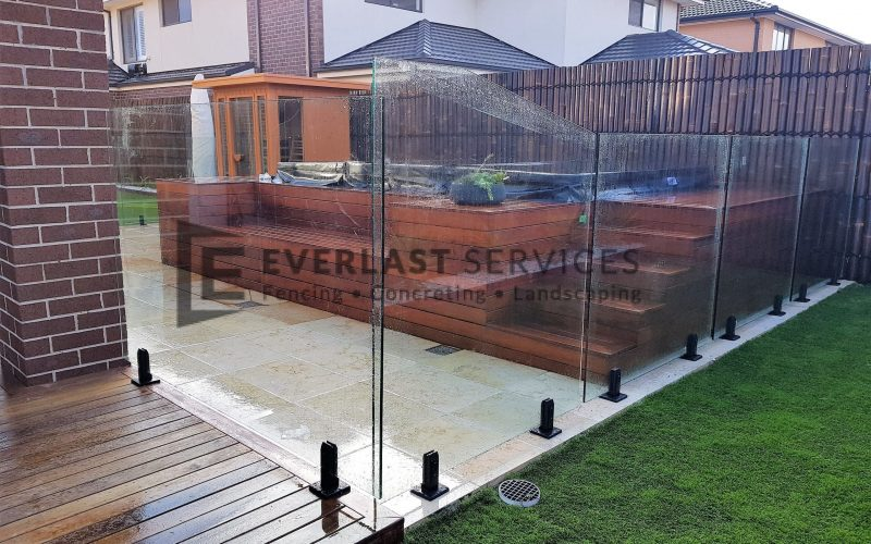 Glass fencing and Spa