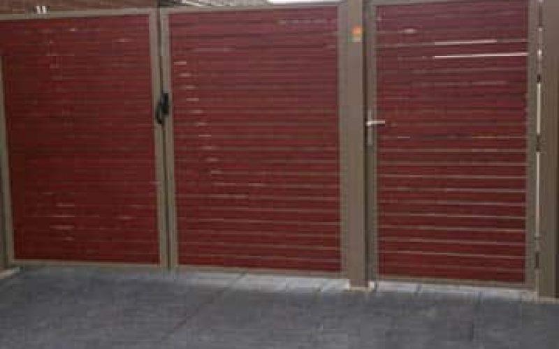 Aluminium Slats Double Single Gates